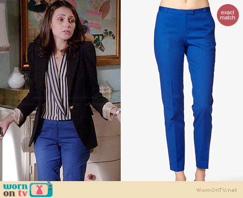 Forever 21 Zipper Matelesse Pants worn by Italia Ricci on Chasing Life