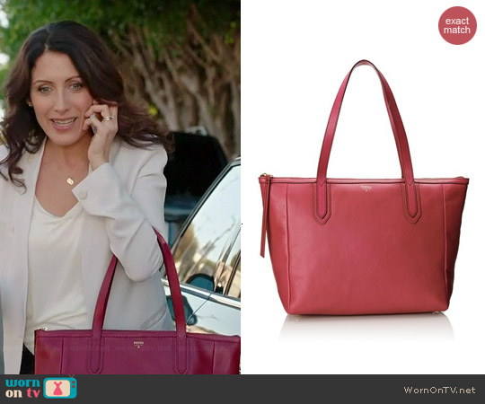 Fossil Sydney Shopper worn by Lisa Edelstein on GG2D