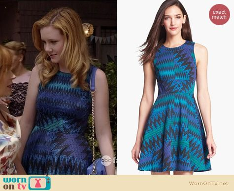 The Fosters Fashion: French Connection Zig Zag print fit and flare dress worn by Madisen Beaty