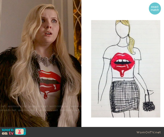 Juana Michel Scream Queens T-shirt Design Competition Top worn by Abigail Breslin on Scream Queens