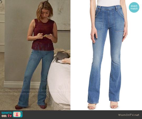 Frame Denim Le Flare De Francoise Jeans worn by Haley Dunphy on Modern Family