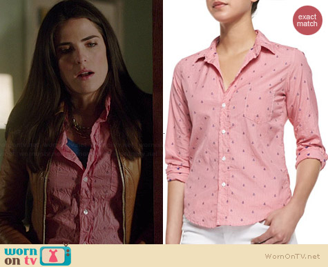 Frank & Eileen Barry Anchor Check Shirt worn by Karla Souza on HTGAWM