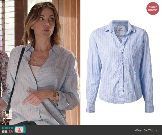 Frank & Eileen Fine Striped Shirt worn by Christa Miller on Cougar Town