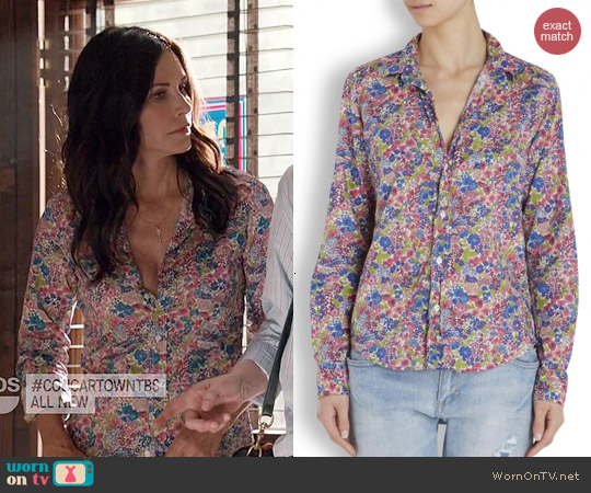 Frank & Eileen Floral Barry Shirt worn by Courtney Cox on Cougar Town