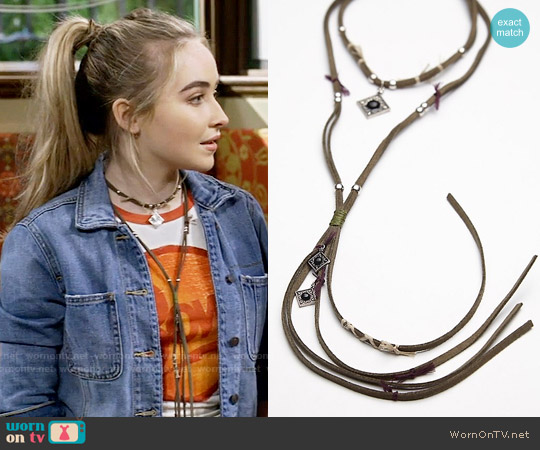 Free People Cross Plains High Low Collar in Olive worn by Maya Hart on Girl Meets World