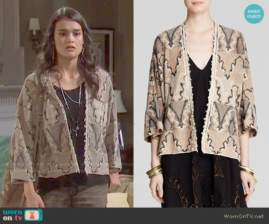 Free People Butterfly Kimono Cardigan worn by True O'Brien on Days of our Lives