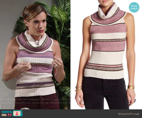 Free People 'Carly' Rib Sweater Tank worn by Melissa Claire Egan on The Young & the Restless