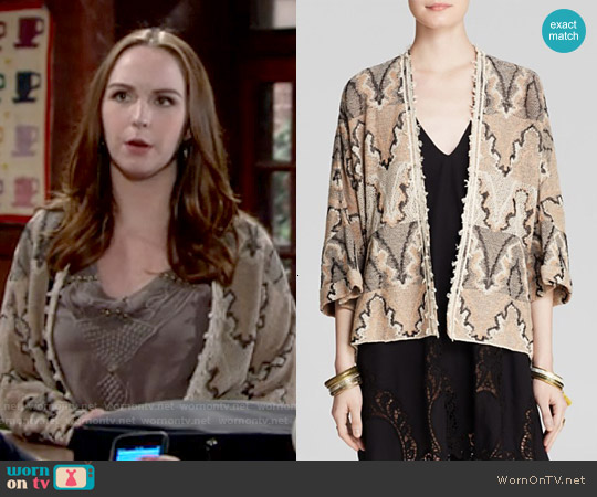 Free People Butterfly Kimono Cardigan worn by Camryn Grimes on The Young & the Restless