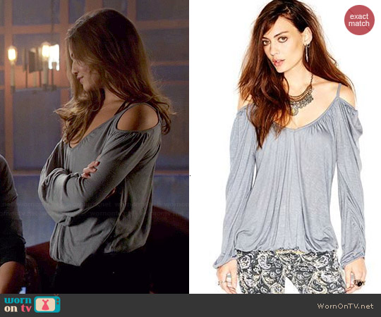 Free People Adelia Blouse worn by Danielle Campbell on The Originals