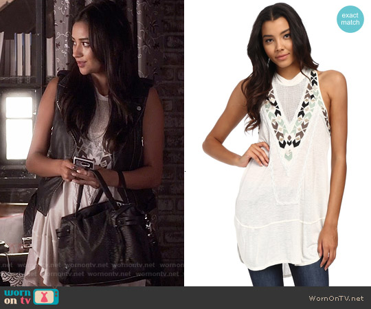 Free People Adella Top worn by Shay Mitchell on PLL