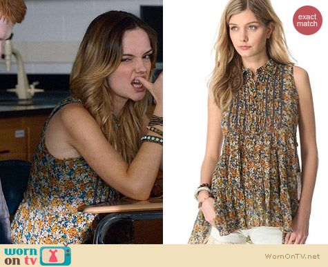 Free People After Dark Garden Top worn by Emily Meade on The Leftovers