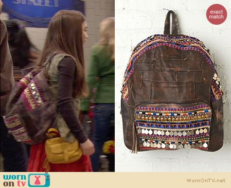 Free People Alameda Backpack worn by Rowan Blanchard on Girl Meets World