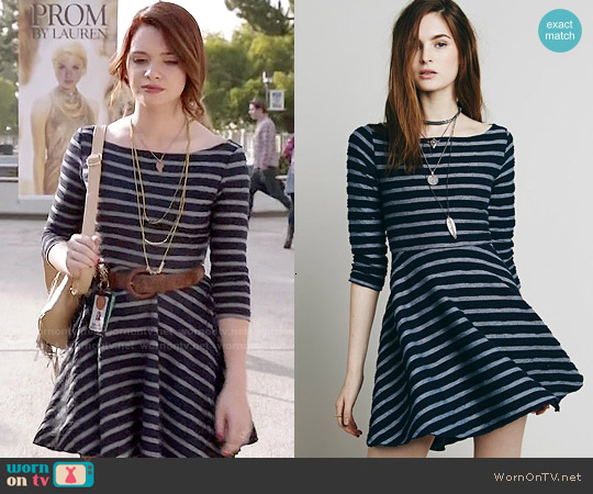 Free People All I Want Is You Dress worn by Katie Stevens on Faking It