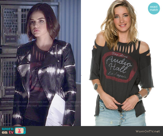 Free People All Tore Up Graphic Tee worn by Lucy Hale on PLL