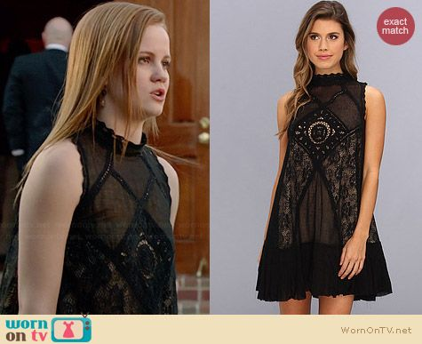Free People Angel Lace Dress worn by Mackenzie Lintz on Under the Dome
