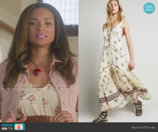 Free People Aphrodite Maxi Dress worn by Rochelle Aytes on Mistresses