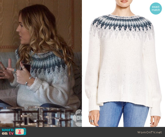 Free People Baltic Fair Isle Sweater worn by Lennon Stella on Nashville
