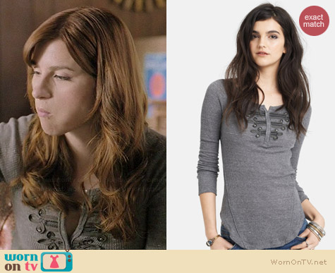 Free People Battalion Thermal Top worn by Aya Cash on You're the Worst