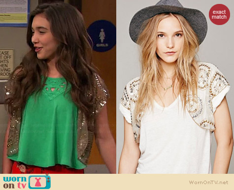 Free People Beaded Bolero worn by Rowan Blanchard on Girl Meets World