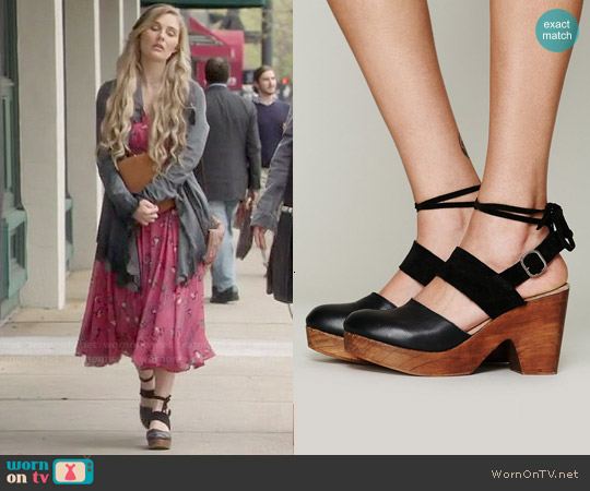 Free People Belmont Leather Clogs worn by Clare Bowen on Nashville