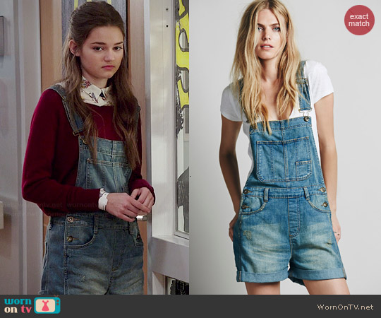 Free People Boyfriend Shortalls worn by Ciara Bravo on Red Band Society