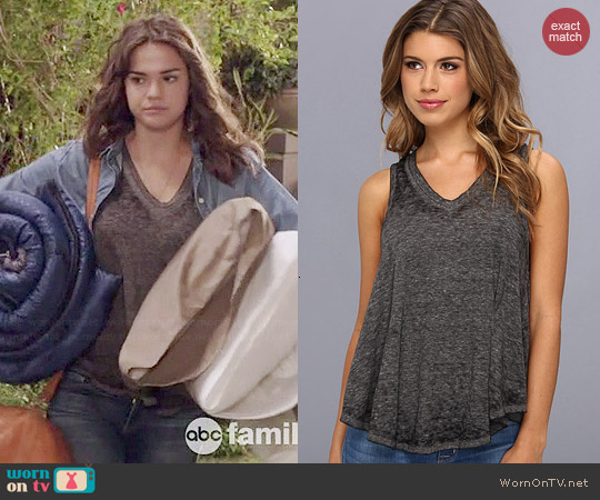 Free People Breezy Tank in Black worn by Maia Mitchell on The Fosters