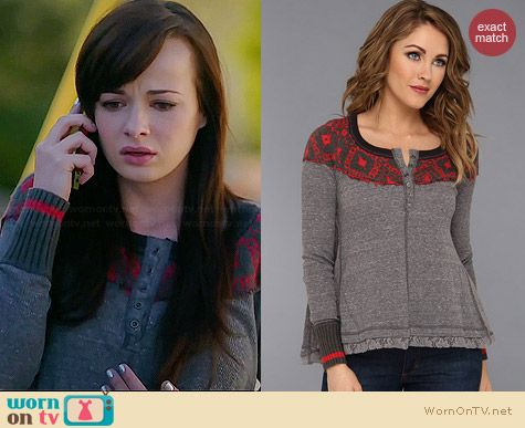 Free People Cabin In The Woods Top worn by Ashley Rickards on Awkward