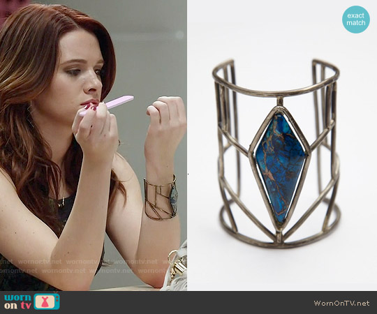 Free People Caged Stone Cuff worn by Karma on Faking It