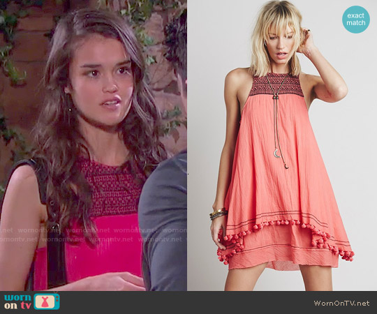 Free People Calypso Dress worn by True O'Brien on Days of our Lives
