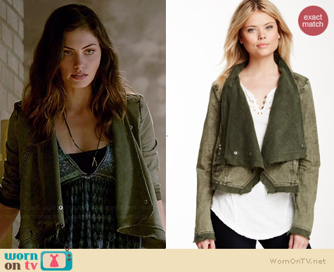Free People Cascading Twill Jacket worn by Phoebe Tonkin on The Originals