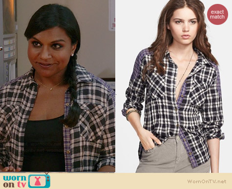 Free People Catch Up with Me Shirt worn by Mindy Kaling on The Mindy Project