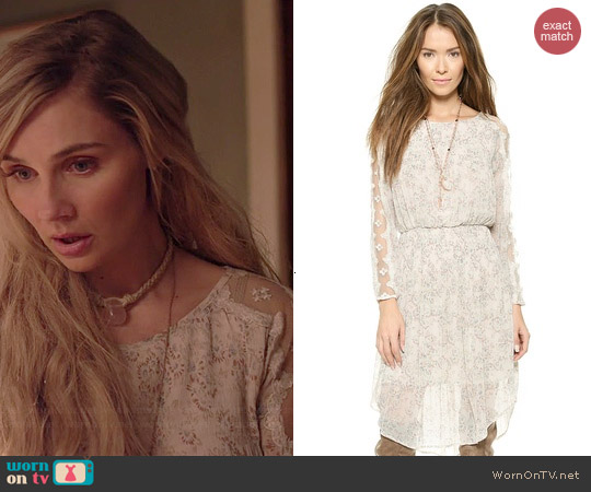 Free People Charlotte Midi Dress in Alabaster worn by Clare Bowen on Nashville