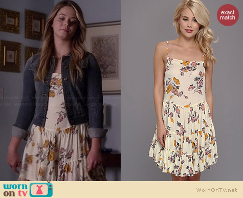 Free People Circles of Flowers Dress worn by Sasha Pieterse on PLL