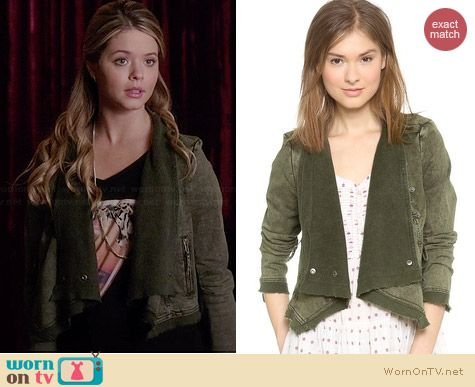 Free People Collapsing Twill Jacket in Military worn by Sasha Pieterse on PLL