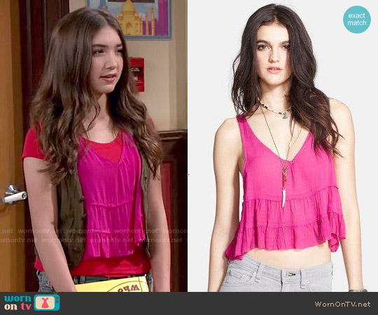 Free People Crinkle Breeze top worn by Rowan Blanchard on Girl Meets World