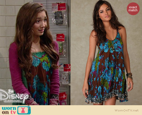 Free People Crinkle Floral Dress worn by Rowan Blanchard on Girl Meets World