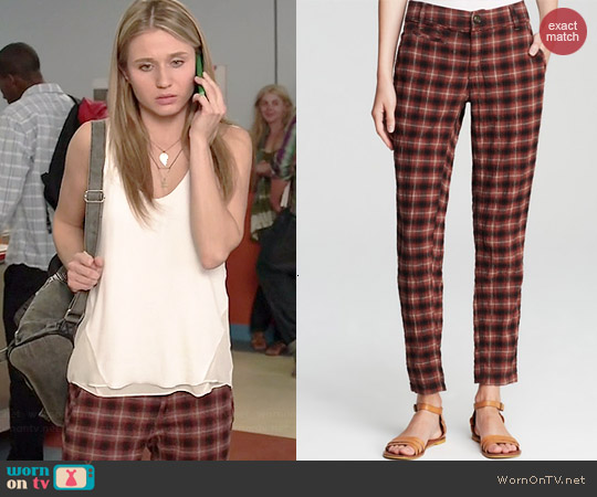 Free People Crinkle Plaid Pegged Pants worn by Rita Volk on Faking It