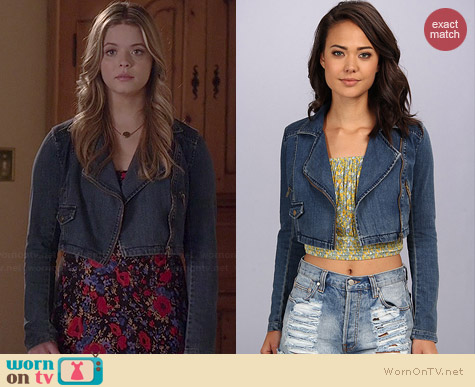 Free People Cropped Moto Jacket worn by Sasha Pieterse on PLL