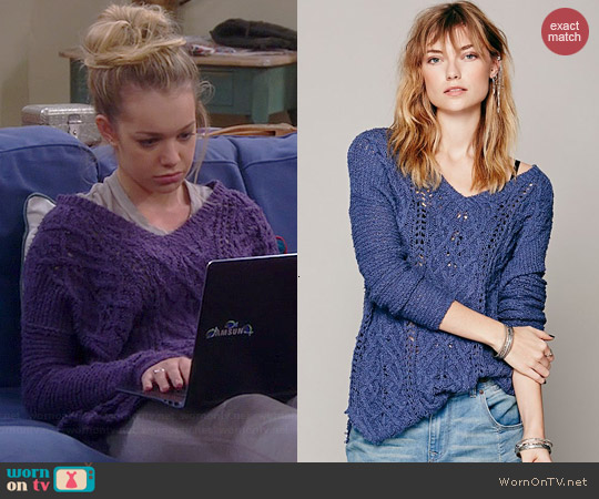 Free People Cross My Heart Pullover worn by Sadie Calvano on Mom