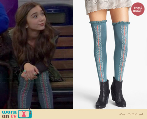 Free People Daisy Trail Over the Knee Socks worn by Rowan Blanchard on Girl Meets World