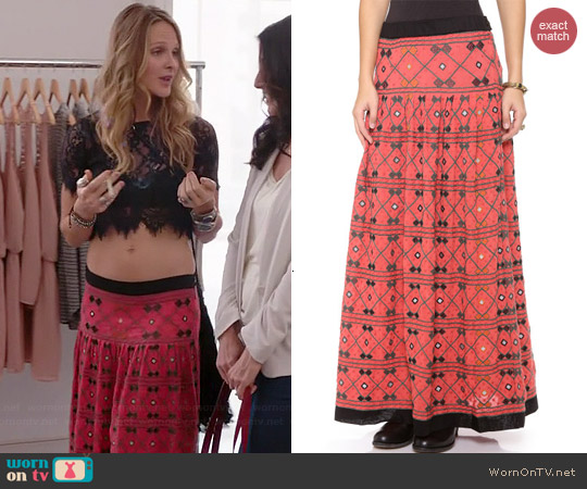 Free People Delhi Dreams Skirt worn by Beau Garret on GG2D