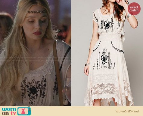 Free People Delphine Dress worn by Clare Bowen on Nashville