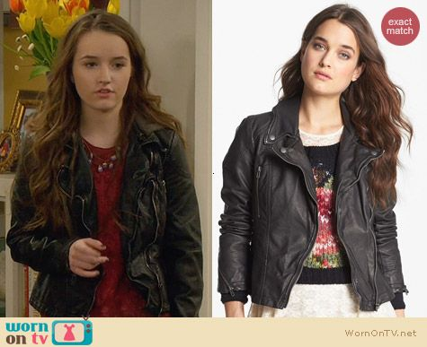 Free People Distressed Vegan Leather Jacket worn by Kaitlyn Dever on Last Man Standing