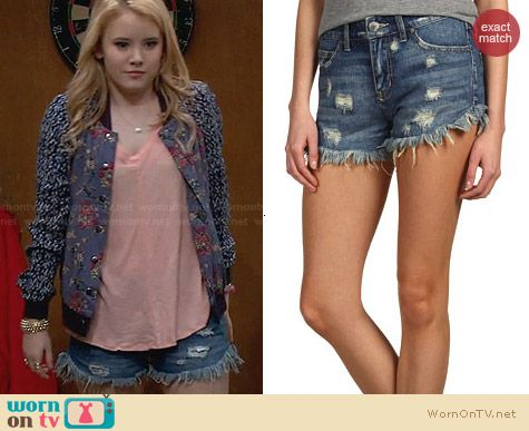 Free People Dolphin Hem Cutoff Shorts worn by Taylor Sprietler on Melissa & Joey