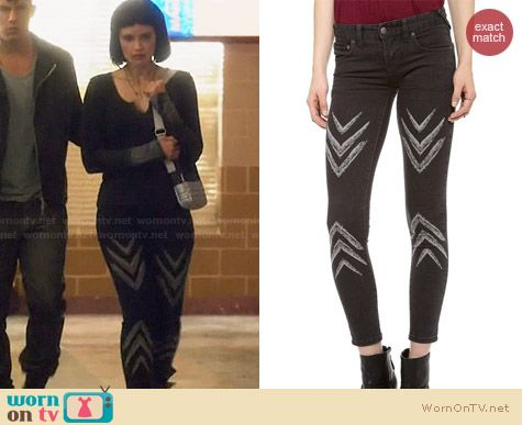 Free People Dotted Ikat Pants worn by Brina Palencia on Star Crossed