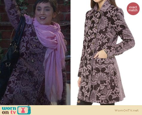 Last Man Standing Fashion: Free People Downtown Brocade Coat worn by Molly Ephraim