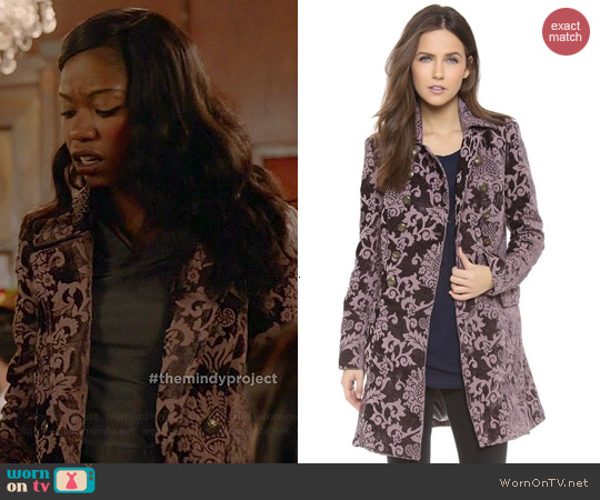 Free People Downtown Coat worn by Xosha Roquemore on The Mindy Project