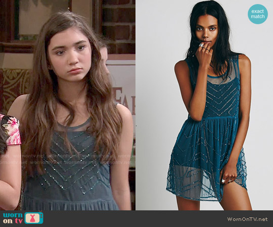 Free People Embellished Slip worn by Rowan Blanchard on Girl Meets World