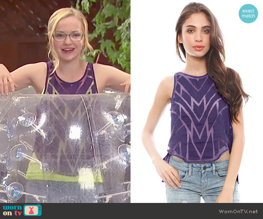 Free People Ethereal Daze Ginger Top worn by Dove Cameron on Liv & Maddie