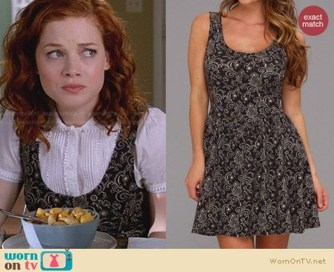 Free People Everyone Everywhere Dress worn by Tessa Altman on Suburgatory